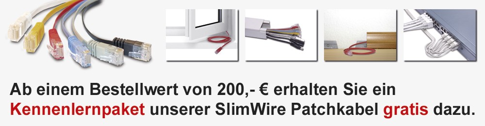 Slimwire Patchkabel Aktion