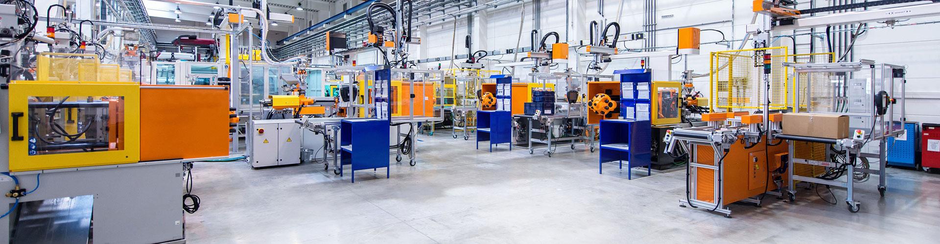Fabrikhalle von KTI als OEM- und ODM-Dienstleister